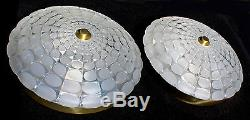 1 Of 2 Pair Kalmar Gold Color & Art Glass Sconce Wall Lamp Plafoniere 1960s 60s