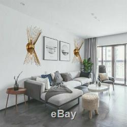1 Pair Corridor Modern Bedside lamp Up down Lighting Gold Wall Sconce light E12
