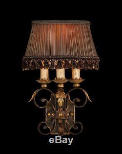 2 FINE ART LAMPS Castile Wall Sconces Model 219550ST EUC