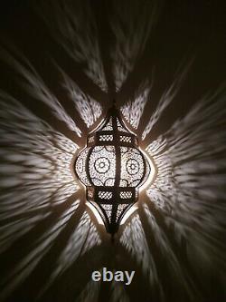 2 Moroccan Wall Light Brass Antique Lamp Copper Sconce Handmade Flush Fixture