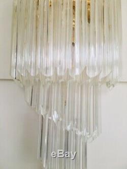 2 Very beautiful Italian Venini crystal gold plated sconces wall lights, Murano