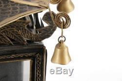 $2k Pair Tole Wall Sconce Candle Holder Light Chinese Lantern Chinoiserie Pagoda