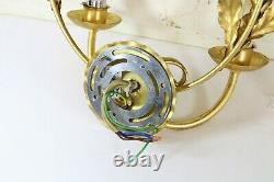 3 Quality Wall Lights by Bella Figura Garland Toleware Gilt Antique Style