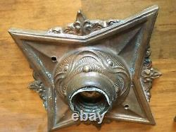 3 Vintage Art Deco Star Wall Sconce Light Fixture Ceiling Arts Crafts