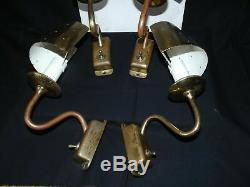 4 Mid-Century Scandinavian Perforated Brass Wall Sconces Paavo Tynell 1950s-50's