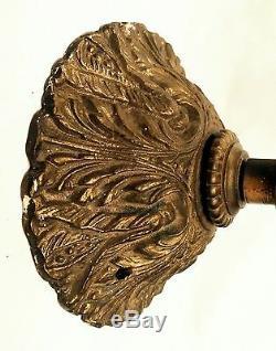 Antique Brass Victorian Sconce/ Cherub Gas Wall Sconce Figurehead