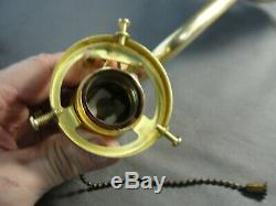 Antique Brass Wall Sconce Light Cobalt Gold Aurene Pulled Feather Glass Shade