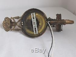 Antique Pair Bronze / Brass Wall Sconces Ornate and Fine Quality