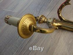 Antique Pair French Empire Regency Bronze Wall Sconces Torch