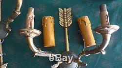 Antique pair arrow bronze Double Wall Sconce