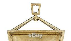 Antiqued Gold Open Lantern Wall Sconce Fixture 17 H ADA staircase 2 Light NEW