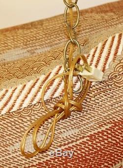 Art Deco Pair of Italian Gold Gilt Wheat Sheath Wall Sconces Light Fixtures