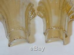 BAROVIER & TOSO ATTRIBUTED murano glass wall lamps retro vintage sconces 1 pair