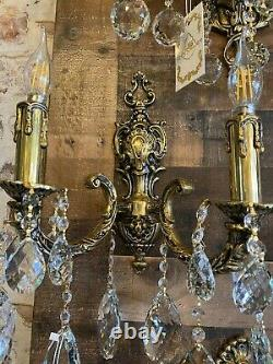 Bronze Wall Sconces Crystal Wall Lamp Lighting Fixture Wall Sconces