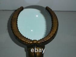 Candle Reflector Magnifying Glass Federal Torch Wall Sconce Art Deco Brass