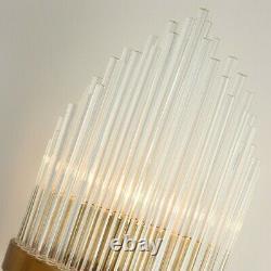 Contemporary Indoor Wall Sconce Vanity Light Glass Rod Hallways Bedroom Fixture