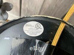 Currey & Company Pair Large Italian Black Gold Gilt Tole 2-Light Wall Sconces