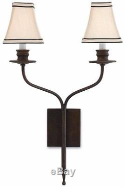 Currey and Company Bronze Gold Highlight Wall Sconce
