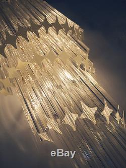 EXTRA LARGE Gold Plated MURANO Crystal Prism WALL SCONCE Venini Camer