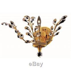 Elegant Lighting Orchid 14 Elements Crystal Wall Sconce in Gold