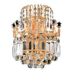 Elegant Lighting V8949W12G/SA Corona Wall Sconces Gold