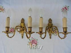 French antique bronze wall light sconces a pair of awesome interior finishing
