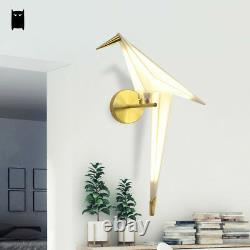 Gold Iron Bird LED Wall Light Fixture Modern Sconce Lamp Design Bedroom Bedside