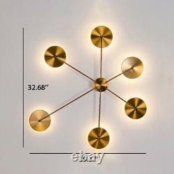 Golden Sputnik Design Wall Sconce Light Modern LED Metal Wall Lamp Living Room