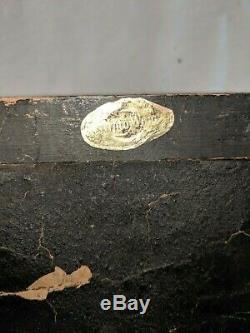 Gorgeous Antique Vtg Pair Syroco Gilt Gold Black Eagle Wall Sconces Shelves