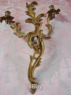 Gorgeous Large Bronze Candle Sconce Wall Light Candelabra Quality Numbered Piece