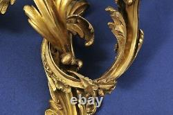 Important Louis XV. Ormolu Wall Sconce, Gilded Bronze, 18th century