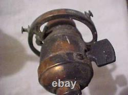 Industrial Era Japanned Copper Oxide Brass ELECTRIC Light Fixture Wall Sconce