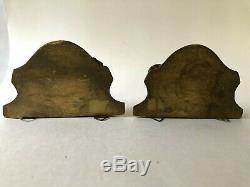 Italian Wall Sconce Shelves Gilt Florentine Art Wood Vintage Carved Pair Gold