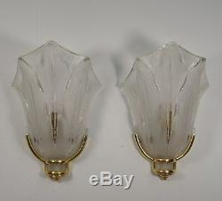 J. Gauthier EZAN PAIR OF FRENCH ART DECO WALL SCONCES. Lamp 1930 muller era
