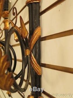 LF28734 Pair Florentina Black & Gold Electrified Wall Sconces