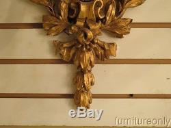 LF40593 Carved Wood Gold Gilt Urn Form Wall Sconces