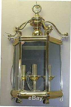Large High Quality Beautiful Solid Brass Indoor lantern 3 lights Wall Sconce NEW