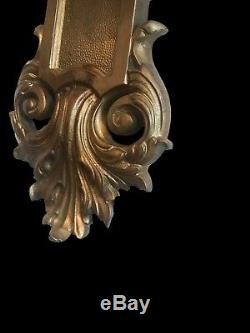 Large palatial wall sconces light french gilt bronze louis XIV 19th 20th century