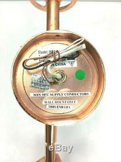 Lot of 4 Vintage Rose Gold Copper Wall Mount Sconce Light Fixture Set MRB-500