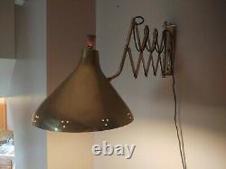 Mid Century Modern Accordion Scissor Wall Mount Lamp Light Sconce Vintage