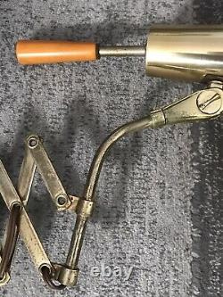 Mid Century Modern Accordion Scissor Wall Mount Lamp Light Sconce Vintage MCM