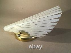 Mid Century Modern Imperialites Gold Glass Wall Sconce Light Fixture Union Made