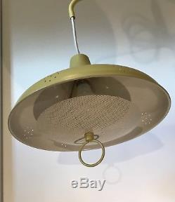 Mid Century Modern Retro Metal Hanging Lamp Wall Mount Yellow Gold