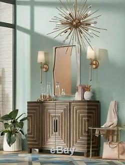 Mid Century Modern Wall Light Brass 21 Sconce Fixture for Bathroom Bedroom