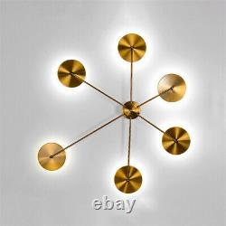 Mid-Century Modern Wall Sconce LED Acrylic Wall Lamp Polished Gold for Hallway