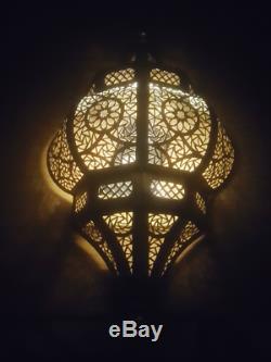 Moroccan Wall Light Brass Antique Lamp Copper Sconce Handmade Flush Fixture