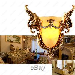 Nostalgic LED SMD Golden Cup Wall Sconce Light Fixture Indoor Lamp Bedroom Lobby
