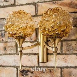 Pair Bubble Glas Wall Lights Sconces in the style of Helena Tynell 1970s