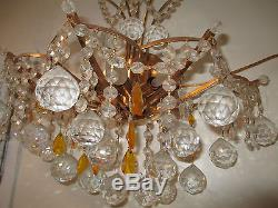 Pair French satin bronze finish Metal/Crystal 3 lights wall Sconces/chandeliers