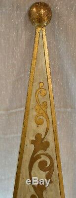 Pair Italian Tole Florentine Gold Gilt Wood Wall Sconces Hollywood Regency 31